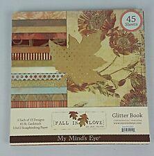 My Mind's Eye Fall In Love~12x12~45 Paper Pack (43 Left) Glitter Scrapbook Paper