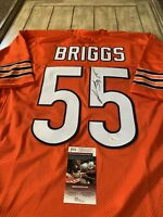 Lance Briggs Autographed/Signed Jersey JSA COA Chicago Bears Future HOF