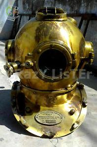 Rare X-Mas Diving Divers Steel Helmet Mark V Us Navy Vintage Divers Helmet Gift