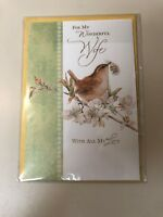 Hallmark Romantic Easter Greeting Card For Wife - Embossed - Brand New
