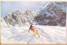 (PRL) SCIATORE NEVE MONTAGNA SNOWBOARDING SPORT VINTAGE AFFICHE ART PRINT POSTER