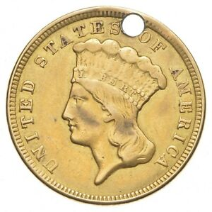 1856 $3.00 Indian Princess Head Gold Three Dollars *0412