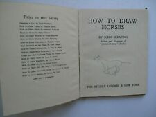 John Skeaping, How to Draw Horses, Studio, October 1946