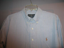 MENS CLASSIC FIT L/S  BUTTON FRONT SHIRT BY RALPH LAUREN SIZE XL MINT!