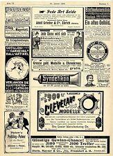 The Lozier Manufacturing Co. Amburgo BICICLETTA syndetikon storica inviti 1900