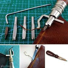 Practical 5 in 1 DIY Leathercraft Pro Stitching Groover Crease Leather Tool Set