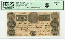 1831 $10 The Bank of Macon, GEORGIA Note (at Principal Bank in Macon) - PCGS 30