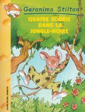 GERONIMO STILTON 9 Quattro topo all'interno di la jungle nero libro jeunesse