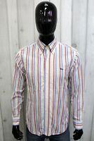 HARMONT&BLAINE Uomo Taglia M Camicia a Righe Chemise Shirt Cotone Manica Lunga