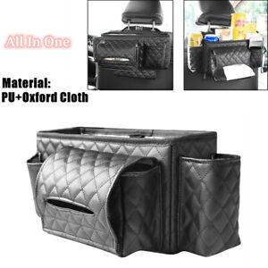 Car Headrest Seat Back Organizer Cup Holder Drink Pocket Food Tissue Box Holder