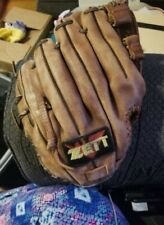 Worn Vintage ZETT baseball glove made with brown Steer Hide