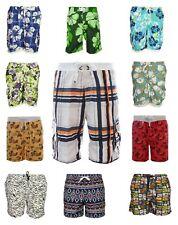 Mens Designer Shorts Brave Soul Swim Pattern Trunks Swimwear Funky Summer Shorts