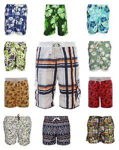 Brave Soul Mens Swim Shorts Floral Print Elasticated Waist Beach Pool Half Pants