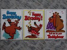 3 Fotographica Geburtstags-Karten & Umschlag No 9279, No 9321 und No 9218K
