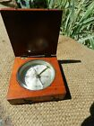 Antique  Nautical Maritime  Compass Made in France ,WOOD CASE,NICE