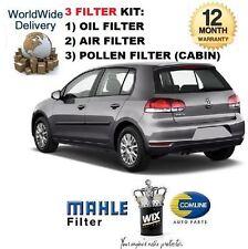 FOR VW GOLF 1.4i TSi GT MK6 2009-> SERVICE KIT OIL AIR POLLEN FILTER SET EO
