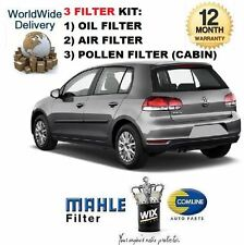 FOR VW GOLF 1.4i TSi GT MK6 2009-> SERVICE KIT OIL AIR POLLEN FILTER SET OE