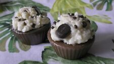 lot 2 pc Handmade small wax candle Unique chocolate cupcake Decorative candle