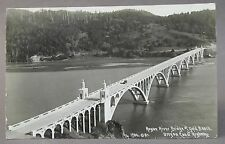 1938 ROGUE RIVER BRIDGE at GOLD BAR OREGON  real photo postcard RPPC