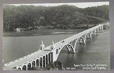 1938 ROGUE RIVER BRIDGE at GOLD BAR OREGON  real photo postcard RPPC