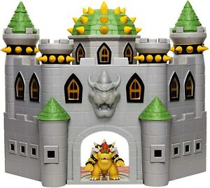 """Nintendo Super Mario Deluxe Bowser's Castle Playset with 3 2.5"""" Action Figure"""