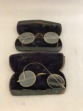 (2) Antique Reading Glasses Spectacles stevens & co .