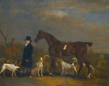 Ferneley John Sr Leading A Bay Hunter With Hounds Print 11 x 14     #3736