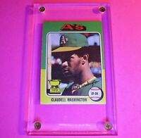1975 Topps #647 Claudell Washington Oakland Athletics Rookie Cup A's  NM NrMt