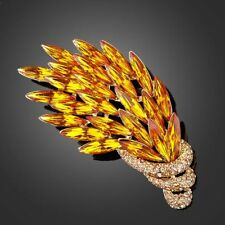 18K GOLD GP Made With SWAROVSKI ELEMENTS CRYSTAL BROOCHES