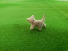 Vintage Miniature Tiny Flocked Kitten Dollhouse Diorama Craft Nos