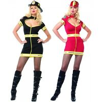 Firewoman Costume Adult Sexy Firefighter Halloween Fancy Dress