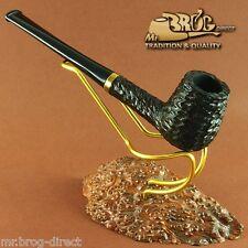 """OUTSTANDING Mr.Brog original smoking pipe nr.19 black carved """"LONDON """" RARE"""