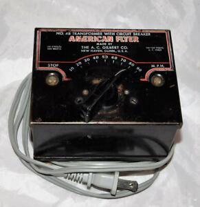American Flyer 4B transformer 100 watts AC tested & works postwar 1957-64 hums