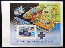St LUCIA 1983 Satellite Imperf M/Sheet U/M NF822