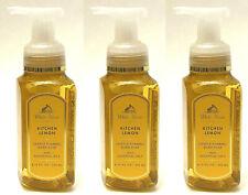 3 Bath & Body Works Gentle Foaming Hand Soap Wash Kitchen Lemon 8.75 Oz New