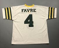 RARE VTG Logo Athletic Brett Favre #4 Green Bay Packers White Jersey Sz XL 50-52