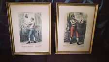 Etched, 1ER Championship of The World Of Boxing, Tom Sayers, John C.Heenan 1860