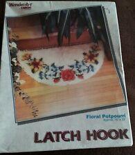 "WonderArt/Caron Floral Potpourri 16"" x 33"" Latch Hook Kit #4776 - Unopened Box"