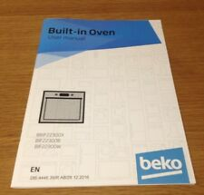 Genuine BEKO BIF22300B & BIF2230W Built In Oven Instruction Manual User Guide