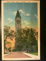 Vintage Postcard>1930-1945>Library Tower>Cornell University>Ithaca>New York