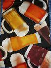 Fat Quarter Liquor License Beer Pilsner Fabric cotton