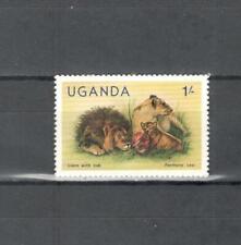 T57 - UGANDA 1979 - MAZZETTA DI 10 ANIMALI AFRICANI ** - VEDI FOTO