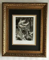 MARC CHAGALL 1963 BEAUTIFUL SIGNED BIBLE PRINT MATTED 11 X 14