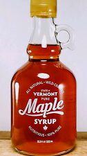 Pure Vermont Maple Syrup In Glass Pint Grade A Medium Amber
