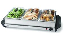 Betty Crocker 3 Warming Tray Portable Electric Buffet Server