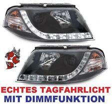 SCHEINWERFER VW PASSAT 3BG 00-04 SCHWARZ LED TAGFAHRLICHT LINKS + RECHTS DRL R87