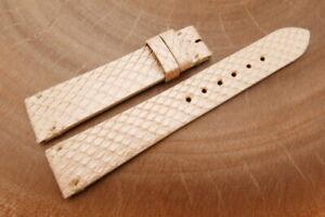18mm/16mm Beige Genuine PYTHON Skin Leather Watch Strap Band