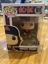 Funko Pop! Rocks Acâš¡Dc Angus Young 91 Red Suit f.y.e. Exclusive Vinyl Pop Stack