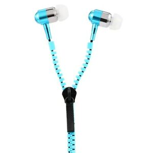 Metal Zipper Earphone Headphones 3.5mm In-Ear for iPhone iPod Samsung HTC LG MP3
