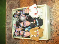 TRADITIONS DOLL COLLECTION PORCELAIN INDIAN DOLLS LOT OF 12 ORNAMENTS NEW